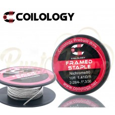 Coilology Flamed Staple Ni80 28*2/36 AWG, 10ft